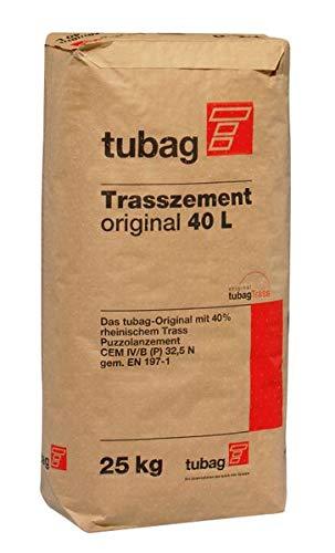 Tubag Trasszement TZ-o original 40L 25kg Verlegung von Belägen Bindemittel Mörtel