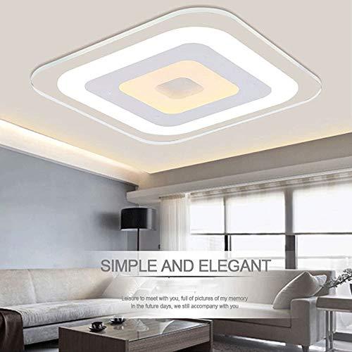 Led-plafondlamp, vierkant, 50/60 cm, montage met paneel, met afstandsbediening, voor badkamer, slaapkamer, keuken, kast in de hal. 20''