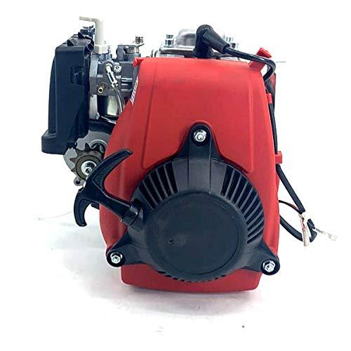 ECUTEE 49cc 4-Takt Motor OHV Motor Tuningmotor Einzylindermotor, Einzelzyl Tuning Pocketbike Cross Motor Pocket Dirt Bike, Gas Benzinmotor Motorisierte Fahrrad Fahrradmotor Motor Kit Scooter