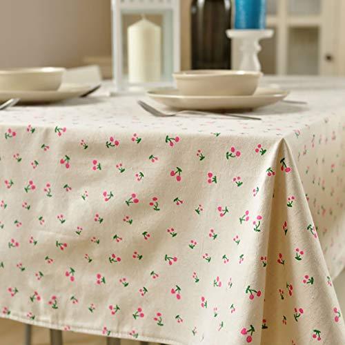WENJUN Mantel, Encaje Vintage Sol Flor Mantel, Lino Bordado Rectángulo Lavable Cena Picnic Table Cloth, Tamaño Surtido, 7 Colores (Color : Style C, Tamaño : 140 * 220cm)