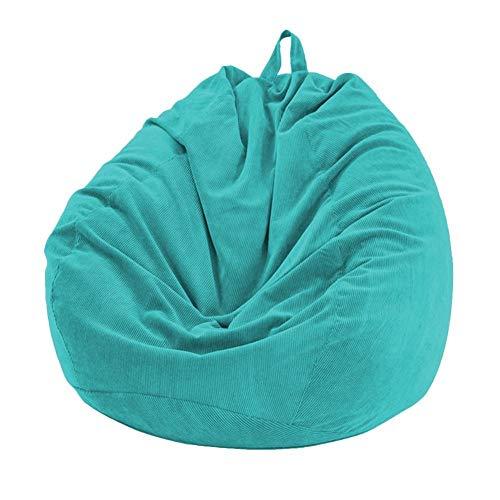 Lazy Sofa Set Stuhl, Keine Polsterung Soft-Removable Corduroy Lehnstuhl Sitzsitzsack Kissen Hocker Tatami Wohnzimmer (Color : Blue)