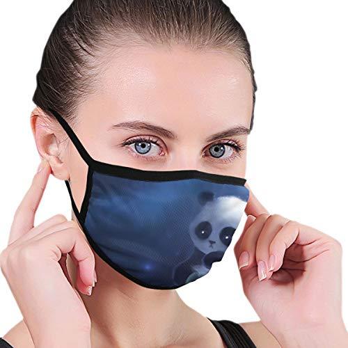 Dataqe Sad Panda Schilderij Behang Gezicht Maskers Doek Masker Voor Stofbescherming Katoen Wasbaar Herbruikbaar Voor Mannen En Vrouwen Universeel