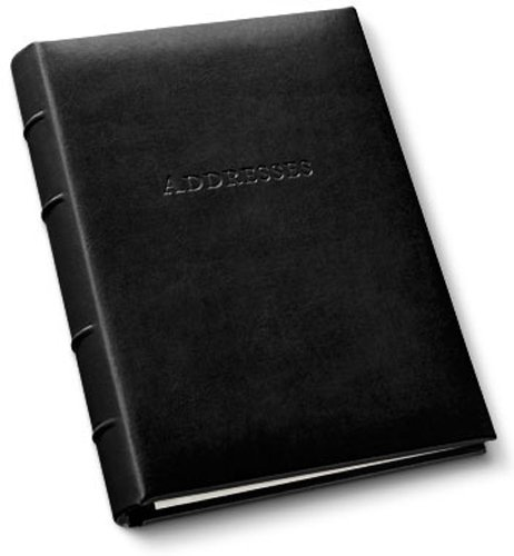 Leather Desk Address Book by Gallery Leather - Acadia Black - Refillable Binder