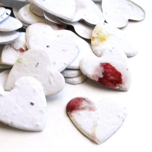 Petalled Heart Shaped Plantable Seed Confetti Value Pack (two 350 piece bags = 700 pieces of seed confetti)