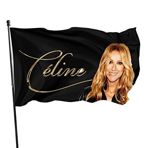 LZHANDA Garten Flaggen Viplili Flagge Fahne, Celine DionGarden Flag 3x5 Inch Decorative Items Are Unique