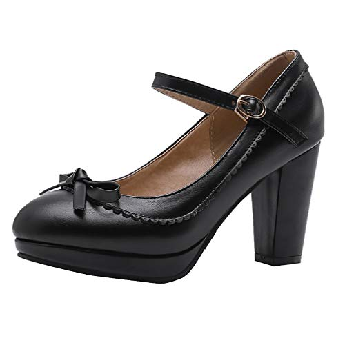 LOVOUO Mary Jane Chaussures Femme Escarpin Rockabilly...