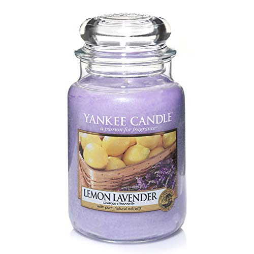 Yankee Candle Duftkerze im Glas (groß) | Lemon Lavender | Brenndauer bis zu 150 Stunden