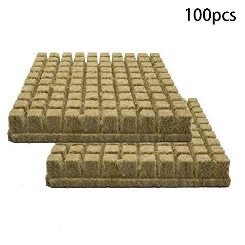 Rock Wolle Würfel Starter Blätter, Rockwool Starter Zündkerzen, Hydroponisch Wachsen Medien für Kräftige Pflanze Wachstum - 100pcs/pack
