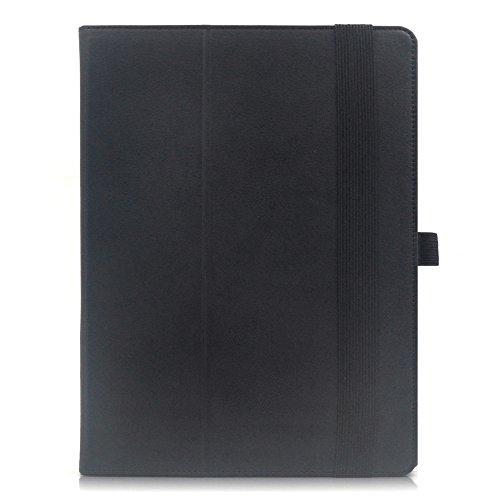 『F.G.S ブラック HUAWEI docomo Dtab d-01H ケース Dtab d-01H カバー 手帳型 スタンド機能、カードセット付き 手持ちハンド付き F.G.S正規代理品』の1枚目の画像
