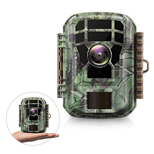 "Campark Mini Trail Game Camera with Night Vision 1080P 12MP Waterproof Wildlife Monitor for Scouting Hunting 120°Detecting Range Motion Activated 2""LCD Display-20M IR LED"