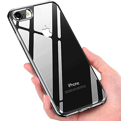 Mture Custodia iPhone 8, Cover iPhone 8 Crystal Protettiva Caso Silicone Gomma TPU Case Anti-graffio Ultra Sottile Custodia Morbida Copertura Protettiva Cover Case per iPhone 8 - Trasparente
