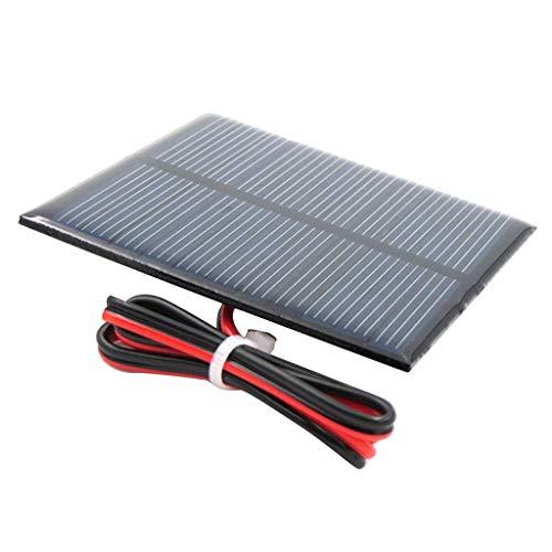 Fenteer Kleine Solarpanel Solarmodul Solarzelle Polykristallin DIY Solarpanel - H 5.5V 65x65mm