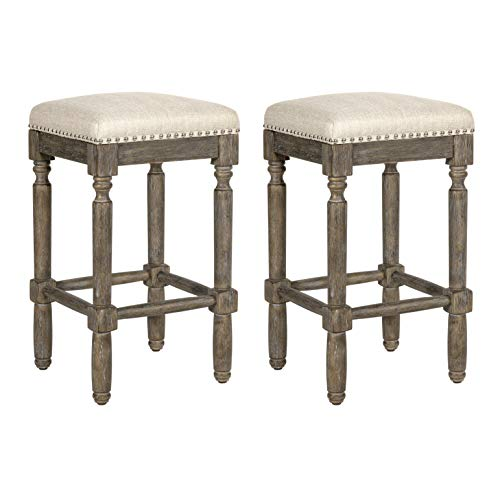 Ball amp Cast Kitchen Room Counter Stool 2Pack Taupe