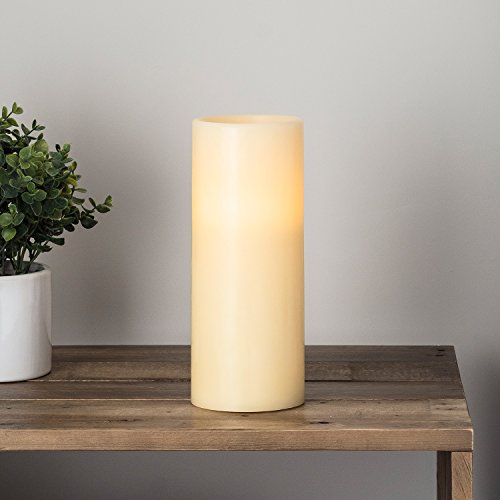 Lights4fun LED Echtwachskerze batteriebetrieben 25cm