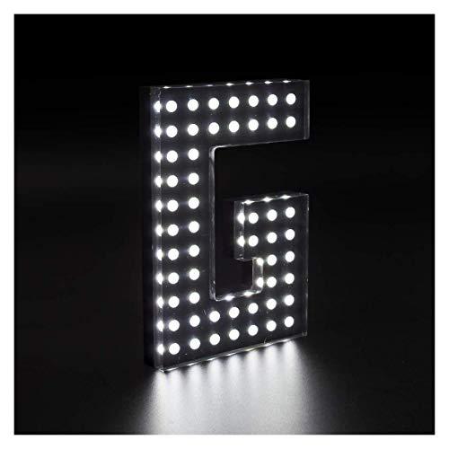 Letras iluminadas de 15x20cm con 3cm grosor de Metacrilato Efecto Lunares con Luz Frontal y Lateral (ZC0032Y). Personalizado (ZC0032Y)