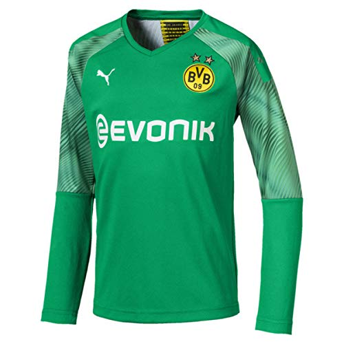 PUMA Jungen BVB LS GK Shirt Replica Jr with Evonik without OPEL Torwarttrikot, Bright Green, 128