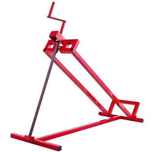 GOPLUS Hebevorrichtung 400kg, Hebebühne Rasentraktorheber Aufsitzmäher Reinigungshilfe Rasentraktor-Heber, rot 115 x 50 x 20 cm