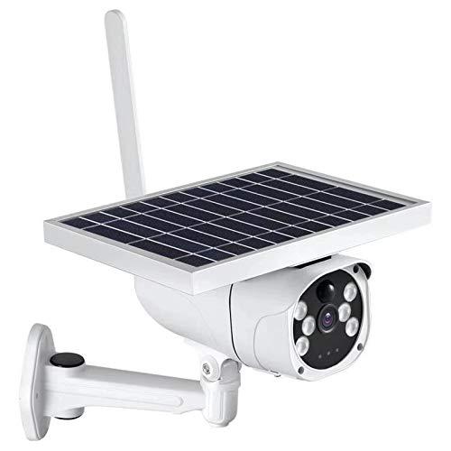 Cámara solar con tarjeta SIM 4g para exteriores, cámara IP de seguridad 1080p, batería de 10400 mAh + fuente de alimentación dual de panel solar de 6 W, tarjeta Tf / almacenamiento en la nube
