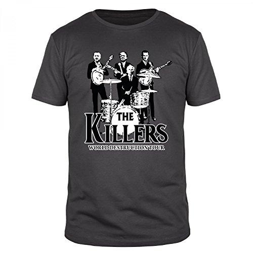 FABTEE - The Killers 2017 - World Destruction Tour Fun Organic T-Shirt Herren, Größen S-3XL, Größe:M, Farbe:Anthrazit