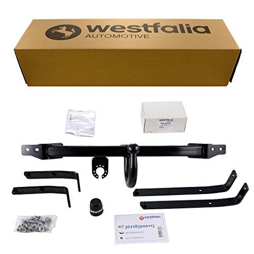 Westfalia Starre Anhängerkupplung - AHK für Ford Fiesta (BJ 11/2005 - 10/2008), Ford Fiesta Van (ab BJ 01/2007) im Set mit 13-poligem fahrzeugspezifischen Elektrosatz