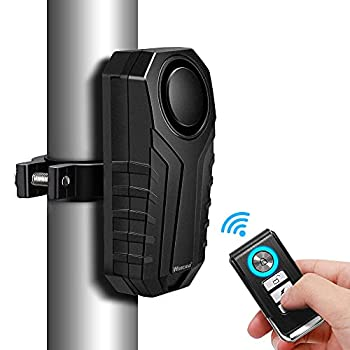 WSDCAM Anti-Theft Bike Alarm with Mount 113dB Burglar Vibration Motorcycle Bicycle Alarm Security System Waterproof Cycle Bike Alarm with Remote