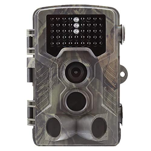 HKBTCH Wildkamera Fotofalle 16MP 1080P Jagdkamera mit 20M Infrarot Nachtsicht Bewegungsmelder IP65 wasserdichte Überwachungskamera Weitwinkel Beutekameras LCD für Außenkamera
