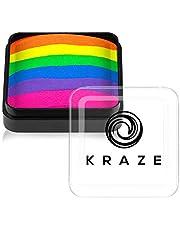 Kraze FX Dome Cake - Neon Rave (25 gm), Professionele gespleten cake voor gezichts- en bodypainting, hypoallergeen, veilig en niet-giftig, kindvriendelijk, ideaal voor beurzen, carnavals, feesten en Halloween