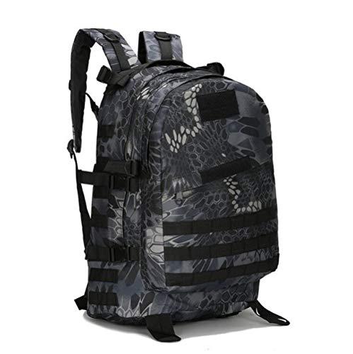 QND,Rucksack 40L 3D Outdoor Sport Militär Taktisches Klettern Bergsteigen Rucksack Camping Wandern Trekking Rucksack Reise Outdoor Tasche, Python Schwarz