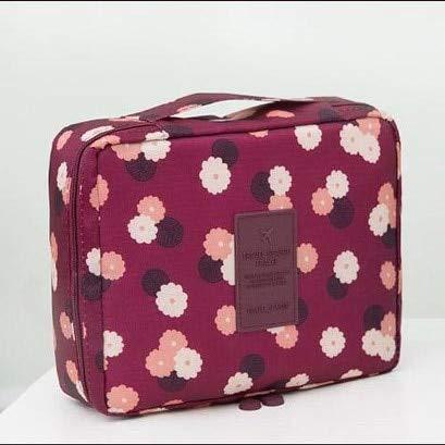 YOLK Bolsa de maquillaje para mujer, bolsa de cosméticos, impermeable, multifunción, bolsa de viaje