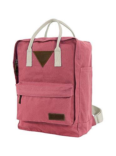 Ansvar II Rucksack aus Bio Baumwoll Canvas - Hochwertiger Damen & Herren Tagesrucksack aus 100% nachhaltigen Materialien - Wasserabweisend - Rucksack mit GOTS & Fairtrade Zertifikat, Farbe:Altrosa