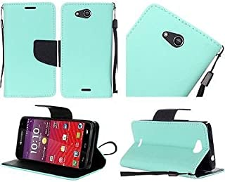 Luckiefind Case Compatible with Kyocera Hydro Wave C6740 / Air C6745, Premium Credit Card Slot Flip Wallet Cover Case (Wallet Teal)