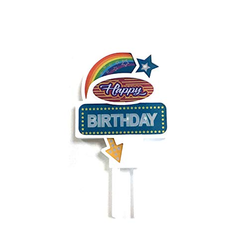 [USA-SALES] Flashing Cake Topper 'Happy Birthday', Birthday Party Decorations, by USA-SALES Seller
