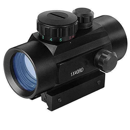 panthem RD40 Red Dot Grün Dot Zielfernrohr Red Dot Visier 11MM | 22MM Schiene Visier Leuchtpunktvisier Rotpunktvisier, HD Reflexvisier Zielfernrohr Rot Grün Punkt Sight mit Halterungen