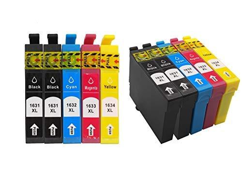 Welookdo Lot de 10 cartouches d'encre de rechange pour imprimante Epson 16XL compatible avec WF-2010 WF-2510 WF-2520 WF-2530 WF-2630 WF-2660 WF-2750 WF-2760 (4BK, 2 Cyan, 2 Magenta, 2 Jaune)