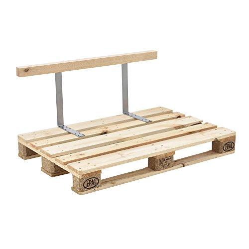 [en.casa] Rückenlehne für Euro-Paletten-Sofa massiv Holzoptik DIY Möbel