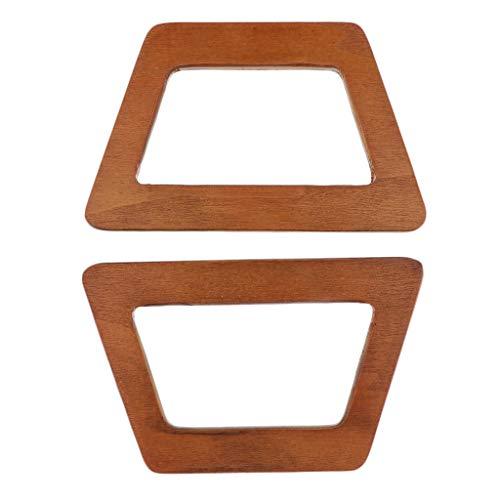 P Prettyia 1 Paar Holz Taschengriffe Taschenbügel Taschenhenkel für Handtasche Geldbörse, 14 x 8.6cm
