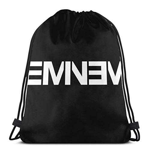 EMI-Nem Drawstring Backpack Bag Beam Mouth Gym Sack Shoulder Bags for Men and Women