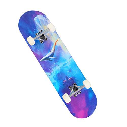 Boutiquespace Skateboard Komplettes Skateboard, Maple Wood Skateboard für Anfänger, für Erwachsene Skateboard, Anfänger Mädchen Jungen Skateboard