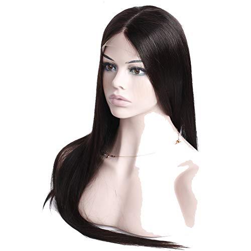 Hmtafro 360 Dentelle frontale Perruques brésilien droite Cheveux humains 135% Densité Couleur naturelle