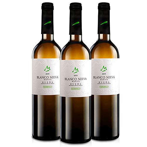 Martúe Blanco Nieva Verdejo Vino Blanco D.O. Rueda - 3 Botellas x 750 ml (2019, 3)