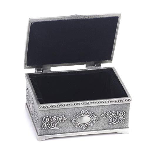 Brthiy Modieuze schatkist in de vorm van sieraden, ring, doos, geschenkdoos, antiek zilver, kristal, voor bonbons, opbergdoos, opbergdoos