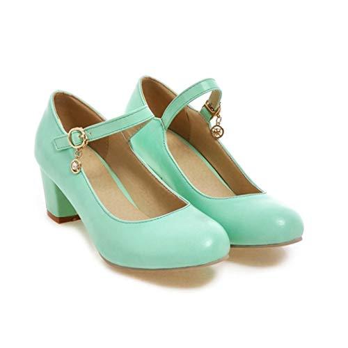 Scarpe da Donna Mary Janes con Cinturino alla Caviglia con Fibbia e Tacco Alto da Donna