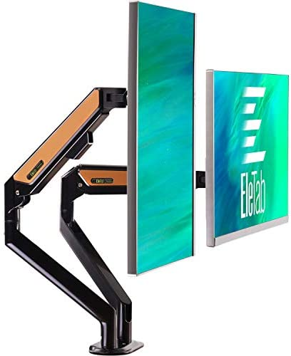 EleTab Dual Arm Monitor Stand Height Adjustable Desk Monitor Mount Fits for Computer Screens product image
