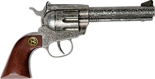 J.G. Schrödel 4060109 - Marshall antik, 22 cm, 100 Schuss Pistole mit Holzgriff, auf Tester