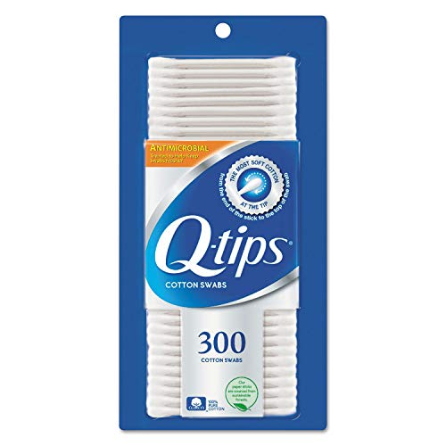Q-tips Antimicrobial Cotton Swabs 300 Each (Pack of 4)