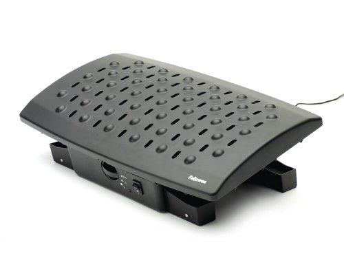 Fellowes 8060901 - Reposapiés con controlador de temperatura, negro