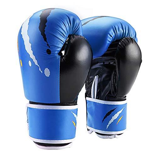 ZoSiP Gants D'entraînement de Boxe Gants De Boxe Junior De 10 Onces Adultes Punching Mitt Formation MMA Thai Arts Martiaux Muay (Color : Blue, Size : 10oz)