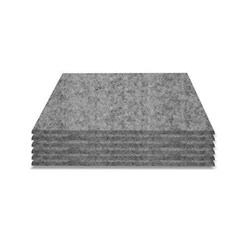 SIMON PIKE Filzuntersetzer Set Hugo 6 Stück, 2mm dick, Farbe: grau, aus echtem Natur Wollfilz
