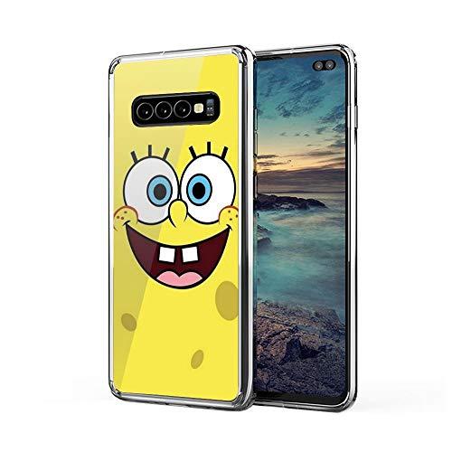 IceSton Spongebob Squarepants Spongebob Case Cover Compatible for Samsung Galaxy S10 Plus S10+ 2503732317587
