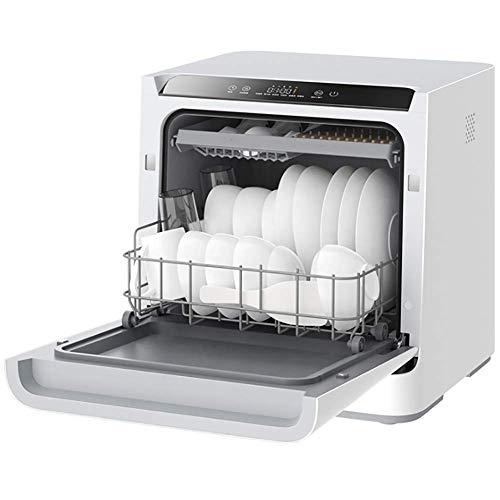 Mini Countertop Tischgeschirrspüler Ultraschallreiniger Sterilisation, 6D leistungsstarke Reinigung Ober- und Unterdoppelspray, Geschirrspüler für Haushalts- und Küchengeräte